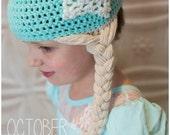 CLEARANCE Frozen Elsa inspired hat, beanie! Princess