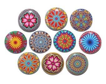 Color Sparks Set of 10 Pinbacks Buttons Badges 1 inch