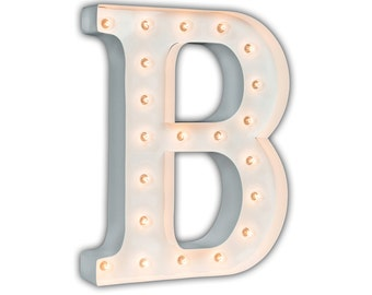 "Letter Light B - WHITE - 24"" Vintage Marquee Lights-The Original!"