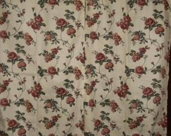 FLORAL Dupont Teflon custom curtains 2  panels