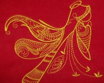 Machine Embroidery Design- Angelic Fantasy #11-SINGLE Design in 4 sizes!