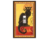 0160x Toulouse Lautrec Chat Noir mrs butler Switchplate  (Choose size/price from dropdown)