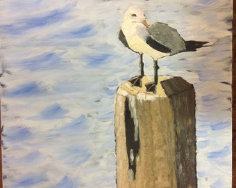 """The Lookout, 20""""x24"""", oil painting by Sharon James"""