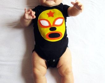 Luchador Amarillo - Yellow Mexican Wrestler Infant Bodysuit
