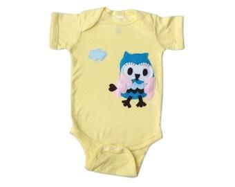 3D Flying Owl Infant Bodysuit