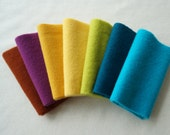Hand Dyed Felted Wool Fabric in a Beautiful Collection of Colors a Perfect Rug Hooking Wool 5204