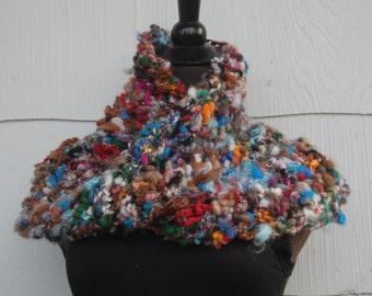 Multi Color Handmade Crochet Mobius Cowl Neckwarmer OOAK