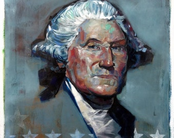 George Washington Patriotic Art Painting