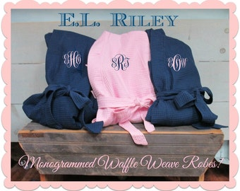 Monogrammed Robes, Personalized Bridesmaid Gift, Bridesmaid Robe, Bride Cover Up, Set of 9