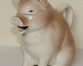 Darling OTAGIRI Brown PIG Teapot