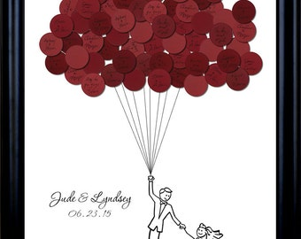 Wedding Guest Book Balloons for up to 75 Guests