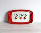 Vintage Daiwa play plate platter tin metal toy made in Japan three ducks