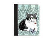 Smart Cat Reading Moby Dick ipad folio book case
