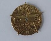1938 Orphan Annie Radio Metal Decoder Badge