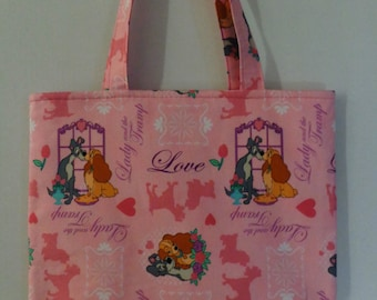 50% OFF SALE - Lady and the Tramp Tote Bag/Book Bag/Preschool Tote