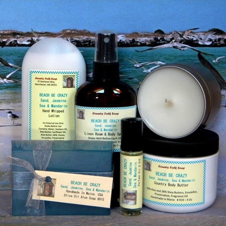 Beach be crazy bath soap gift set soap perfume lotion for Bobbi brown beach soap