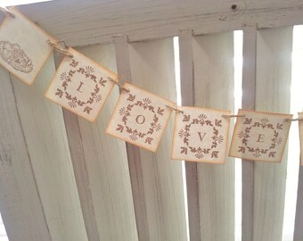Sale Wedding Love is Sweet Banner Party Decoration Bunting Garland Photo Prop Desserts Cookies Anniversary Mini Banner