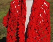 Red Rectangle Shawl