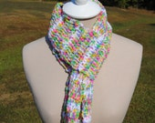 Pastel and White Scarf