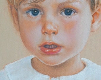 "18x24"" Custom Child Portrait Commisson Pastel Painting Drawing"