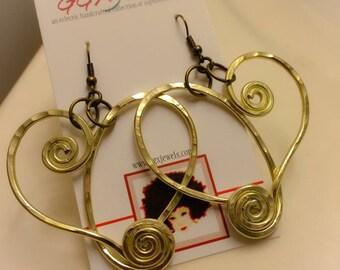 MELT my HEART: Bangin' Beauties hammered aluminum wire earrings