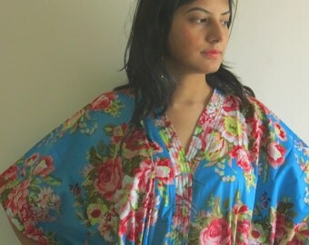 Blue dream - Nursing Kaftan - Perfect as loungewear, as beachwear, gift for moms and to be moms and more