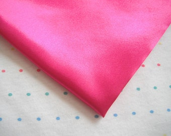 """Hot Pink Satin Lining Fabric, 60"""" Wide, BTY"""