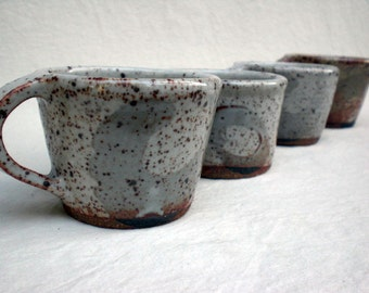 SALE - White Shino Cup - Set of FOUR