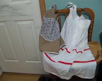 2 cute vintage aprons