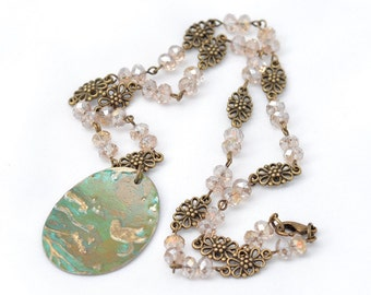 Branches - Patinated Pendant Necklace