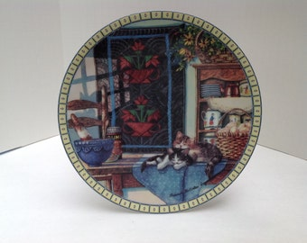 1990 Edwin M. Knowles Cozy Country Corners Collectors Plate
