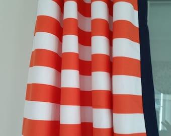 Orange Blue Curtains | Etsy