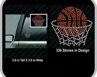 Basketball Net Rhinestone Car Decal