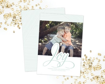 Joy Photo Holiday Card
