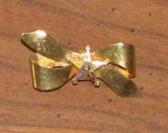 Antique Eastern Star ribbon pin