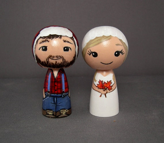 Lumberjack Wedding Cake Toppers Canadian cake toppers