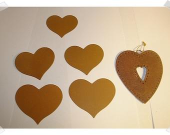 Rusty Metal Hearts/ Heart Ornament/ Craft Supplies*