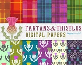 12 High resolution Tartan and Thistle digital scrapbooking kit. Instantly download Tartan and Thistle digital .jpeg images by Happythought.