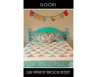Quilt Pattern PDF Sloops -- Layer Cake Friendly