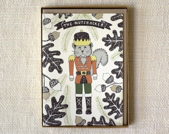 Sale 50% Off - Holiday Card Set of 6 - Nutcracker