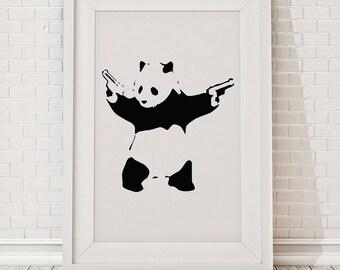 Banksy Panda Framed Print