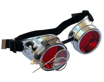 Steampunk Goggles Airship Captain Apocalyptic Mad Scientist Victorian Limited CS R