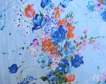 Fabric, Lightweight, Floral, Vintage, Beautiful