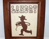 Little Buckaroo Cowboy (or Cowgirl) Name Frame -  Deluxe 8x10 Frame Included - ANY COLORS