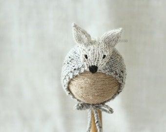 Newborn Wolf Hat, Wolf Hat, Photo Prop