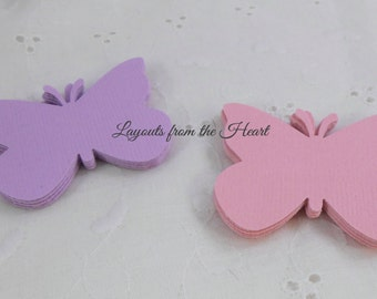 Die Cut Butterflies Cardstock Die Cuts Set of 40 embellishments for cards confetti scrapbooks tags altered art mixed media purple pink