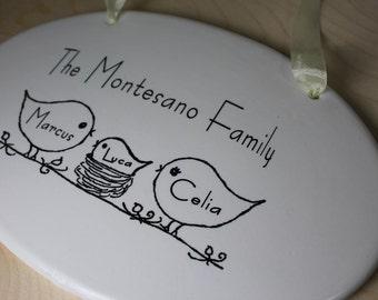 CUSTOM - Ceramic Family Plaque