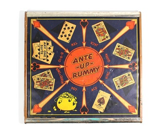 Vintage San Loo Chinese Checkers & Ante Up Rummy Board
