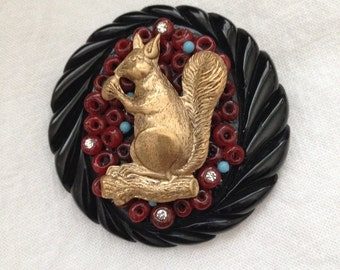 Funky Squirrel Brooch