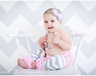 3 piece set HEADBAND , Baby Bloomer and Leg warmers-Chiffon Ruffle Bum Baby Bloomer Legwarmers Diaper Cover  SET- Photo Prop- My2lilPixies